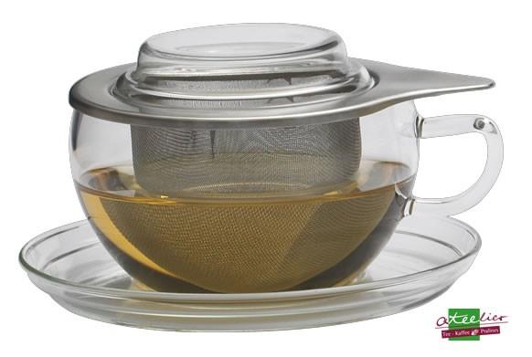 """Teetasse """"Tea Time"""", 0,3l, Glas, m. Edelstahlsieb"""