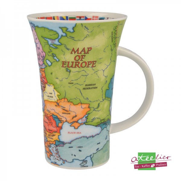 "Becher ""Map of Europe"", Glencoe, 0,5 l"