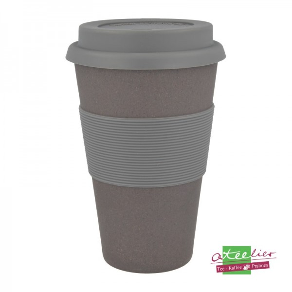"Coffee to go Becher ""Natur-Design"", Schiefer"
