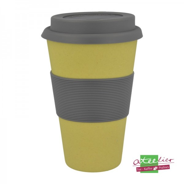 "Coffee to go Becher ""Natur-Design"", gelb"