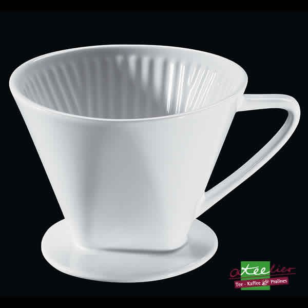 Kaffeefilter Gr. 4, Porzellan, weiß