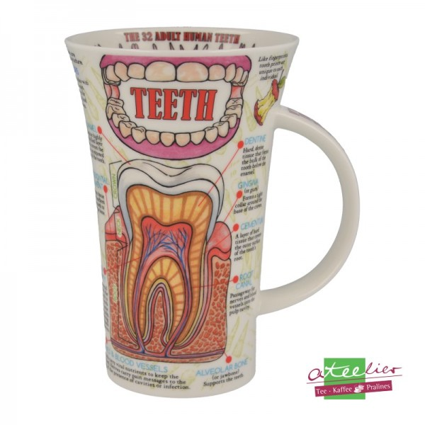 "Becher ""Teeth"", Glencoe, 0,5 l"
