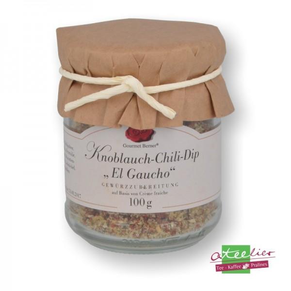 """Dip Spezialität Knoblauch Chili """"El Goucho"""", 100 g"""