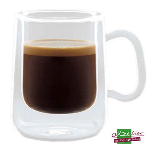 "Glas ""Duo"", Colombia Espresso"", doppelwandig, 100ml"