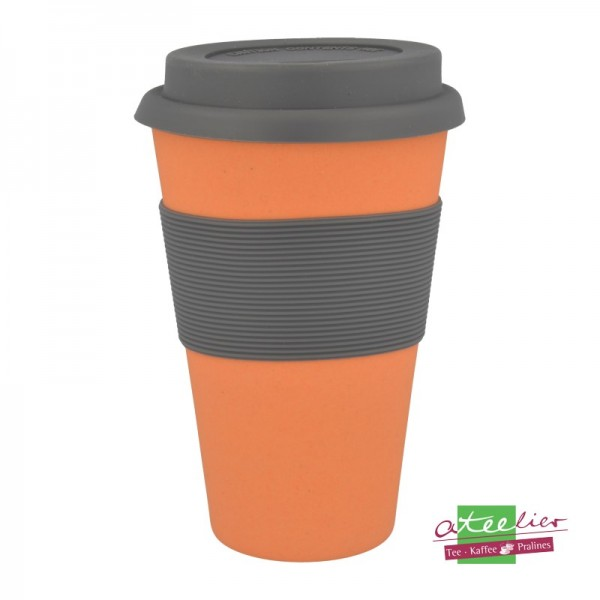 "Coffee to go Becher ""Natur-Design"", orange"