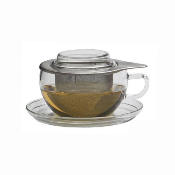 """Trendglas Teetasse """"Tea Time"""", 0,3l, Glas, m. Edelstahlsieb"""