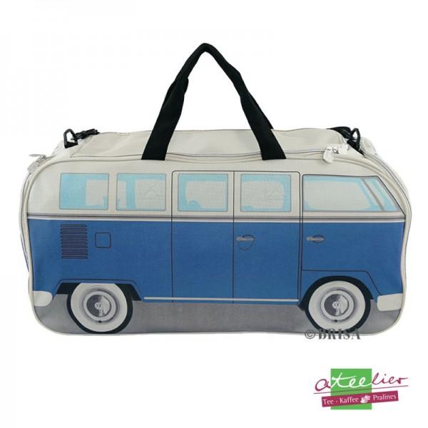 """Sporttasche """"VW T1 Bus"""", Neopren, Blau/Beige"""