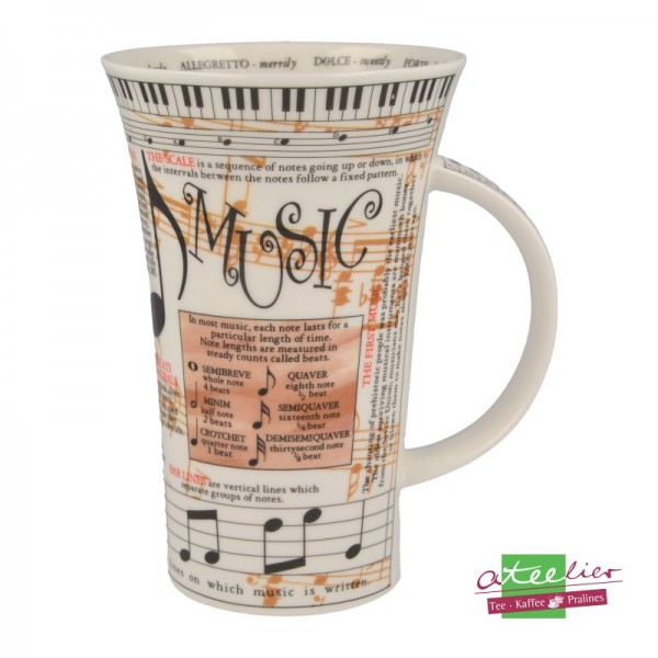 "Becher ""Music"", Glencoe, 0,5 l"