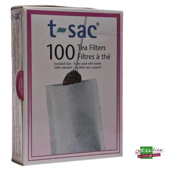 Teefilter, natur, 100 Stck., mit Bodenfalte