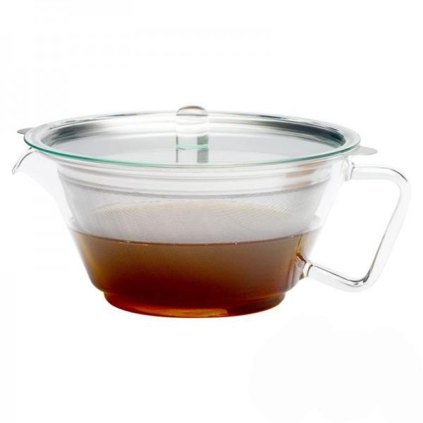 "Trendglas Teekanne ""Globe"", 1,3 l, Glas m. Edelstahlfilter"