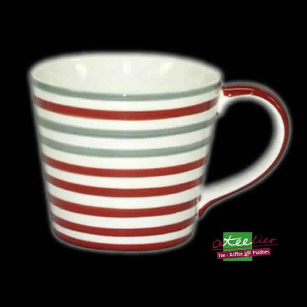 "Becher ""Circles Red+Grey"""