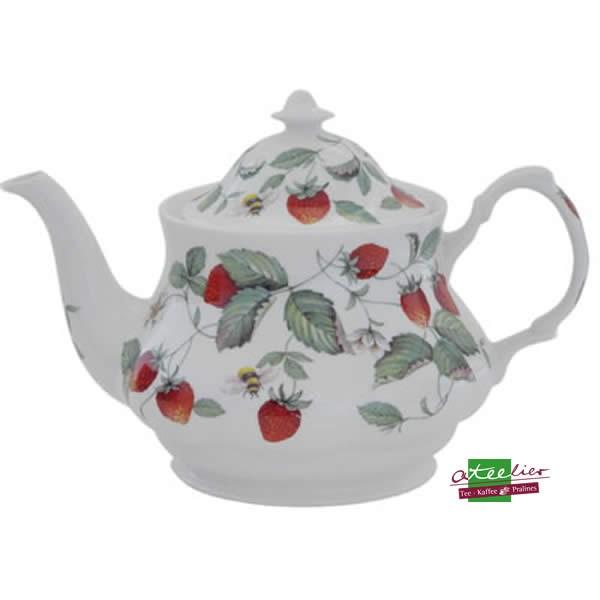 "Teekanne ""Erdbeeren"", 0,9l, Fine Bone China"
