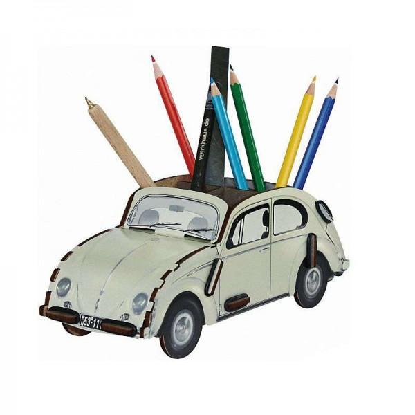 VW Käfer Stiftebox - weiss