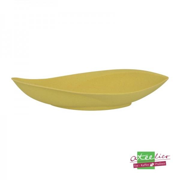 """Blattschale """"Natur-Design"""", 30 x 15 cm, gelb"""