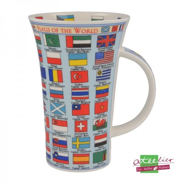 "Becher ""Flags of the World"", Glencoe, 0,5 l"