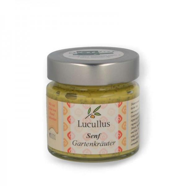 "Lucullus Senf ""Gartenkräuter"", 115 ml - Sale MHD 05.09.2021"