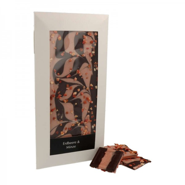 "Coppeneur Cuveé Chocoladen ""Erdbeer & Minze"", 85g"