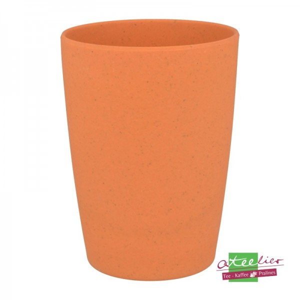"Becher ""Natur-Design"", orange"