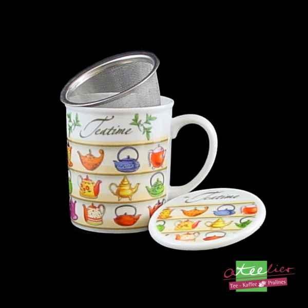 "Kräuterteetasse ""Teapots"", 3 tlg."
