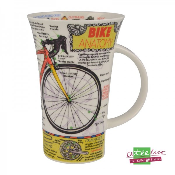 "Becher ""Bike Anatomy"", Glencoe, 0,5 l"